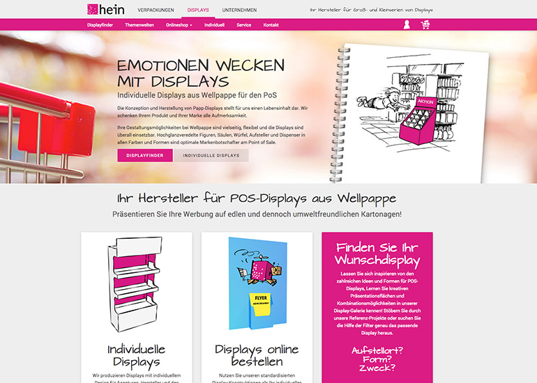 HEIN Displays Onlineshop